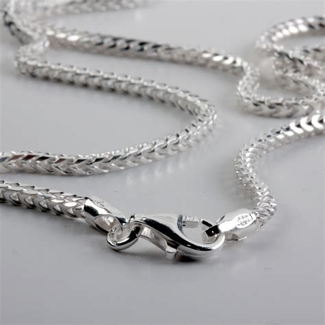 Silver Pendant With Chain sterling silver pendant chain franco chain link ideal