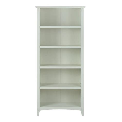 Home Decorators Collection Montego White Open Bookcase White Bookcase