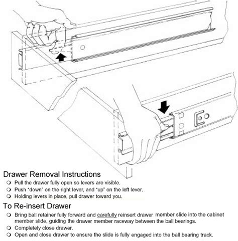 Accuride Drawer Slides Removal by Bearing Drawer Slides