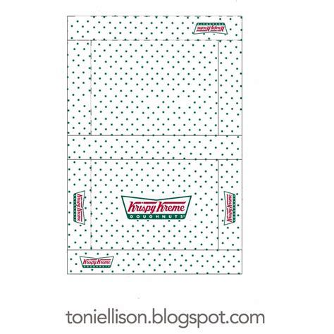 printable elf donut box template toni ellison krispy kreme doughnuts coffee miniature