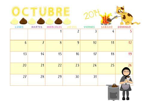 H M Calendario Qu 201 Hacemos Hoy En El Cole Calendario Octubre 2014