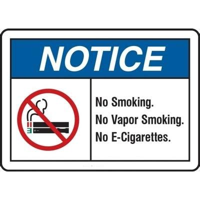 no smoking sign e cigarettes notice no smoking no vapor smoking no e cigarettes