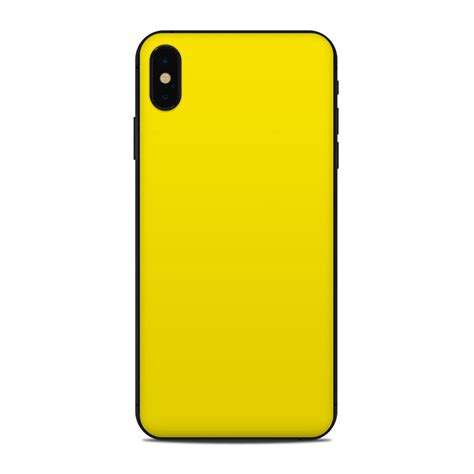 apple iphone xs max skin solid state yellow by solid colors decalgirl