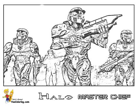 heavy halo reach coloring free halo reach kids coloring