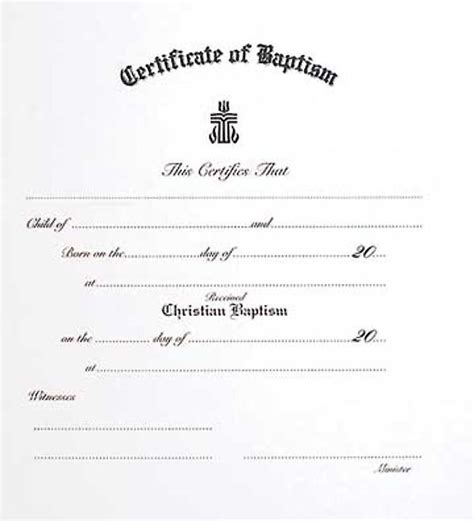 Presbyterian Baptism Certificate Template by Presbyterian Children S Baptism Certificate Cokesbury
