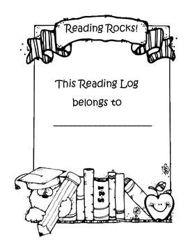 Reading Log with cover | Reading logs, Kindergarten books