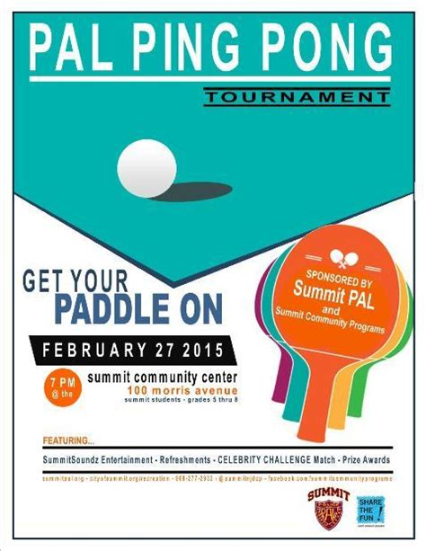 Smashing Time Annual Pal Ping Pong Tournament Set For Feb 27 News Tapinto Ping Pong Tournament Flyer Template