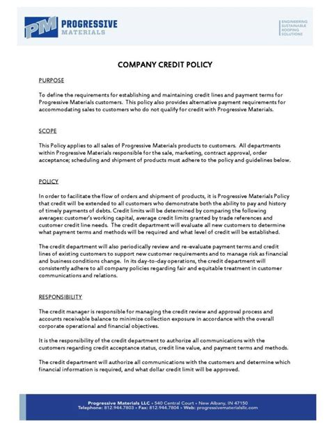 credit card policy template 10 sle company policy templates free premium templates