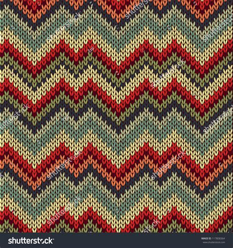 Pattern Green Red Brown Red Blue | retro style seamless knitted pattern red blue brown
