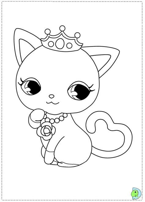 free all jewel pet coloring pages
