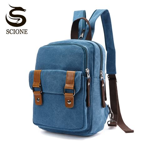 List Korea Fashion Style Canvas Shoulder Bag Tas Travel Kanvas scione 2017 chest bag pack korean style canvas backpack shoulder bags travel