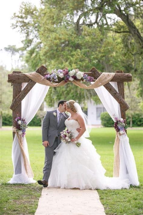 top  rustic burlap wedding arches backdrop ideas