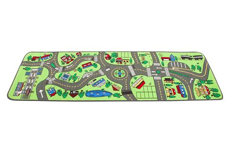 carpet car mat made of polypropylene surface and pvc bottom learning carpets road lc 124 toys