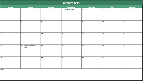 calendar template 2014 excel 2014 blank monthly calendar autos post