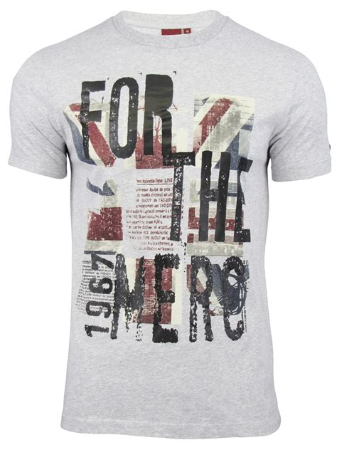 Printed T Shirts For Mens Uk by Mens Merc T Shirt Tarn Union Print Ebay