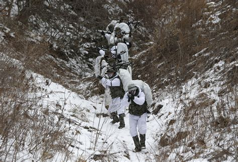 Winter Navy south korean u s soldiers hold annual joint winter
