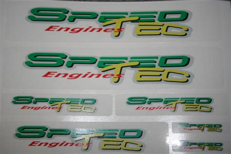 Tuning Aufkleber Set by Speed Tec Tuning Aufkleber Set Speed Tec Engines