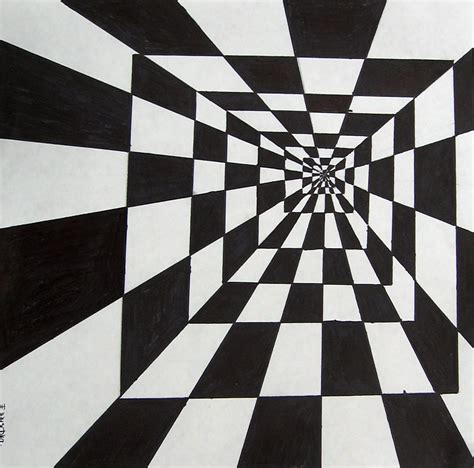 How To Make An Optical Illusion On Paper - how to draw optical illusion