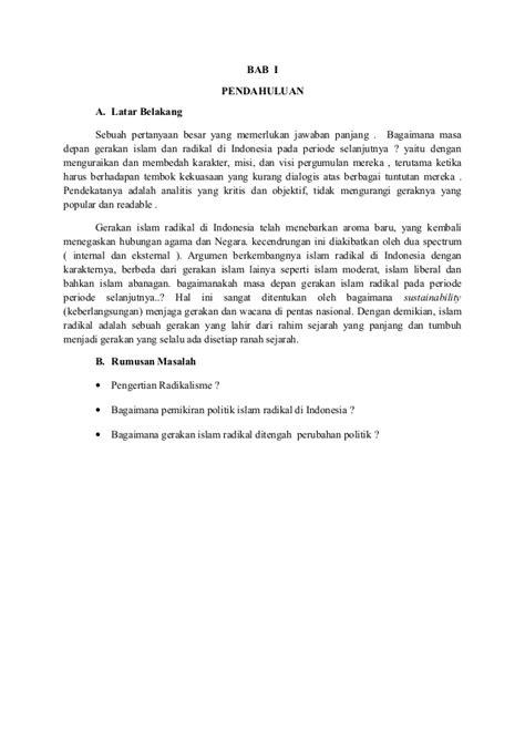 Manajemen Bisnis Syari Ah revisi makalah msi islam radikalisme