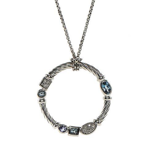 david yurman sterling silver blue topaz iolite