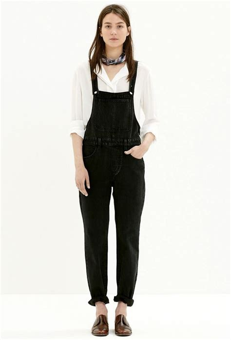 Overall Black 7 ways to wear black overalls whowhatwear uk