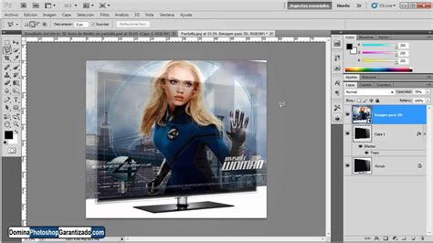 tutorial photoshop cs5 español efectos para fotos efecto 3d fuera limites en pantalla tutorial de