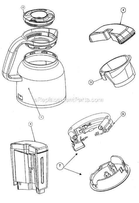 mr coffee parts diagram mr coffee urtx85 parts list and diagram