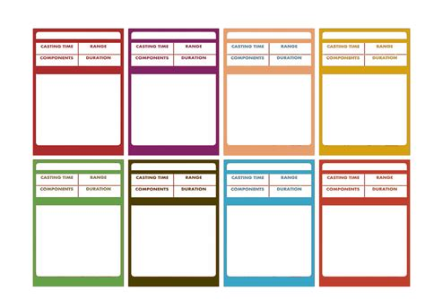 dungeons and dragons ability card template d d 5e spellbook cards rpg character sheet and characters
