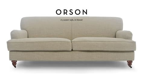 english roll arm loveseat orson 3 seater sofa biscuit beige