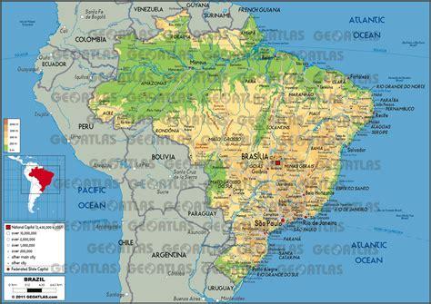 map of brasil geoatlas countries brazil map city illustrator fully