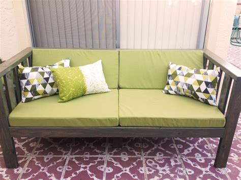 diy settee our diy patio sofa vivagood