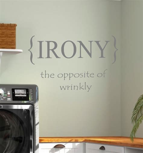 laundry room irony vinyl wall decal home decor by