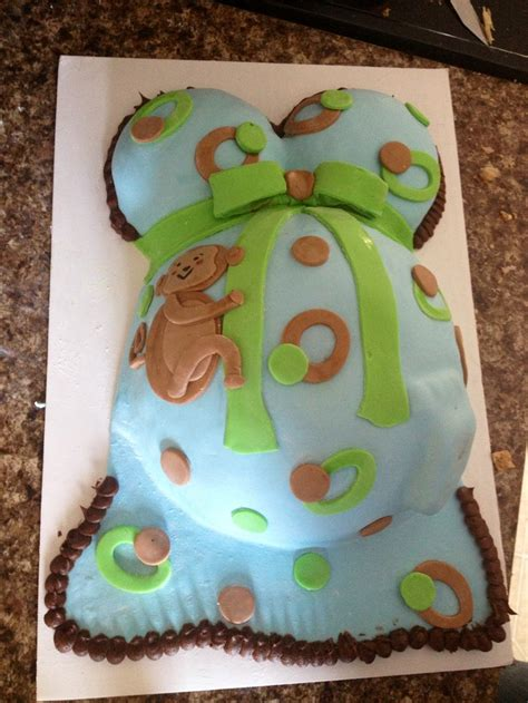 monkey template for cake monkey theme belly cake baby shower idea