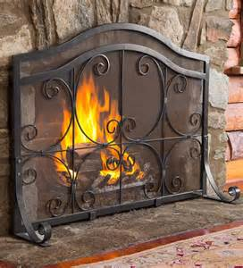 wide fireplace screen plow hearth 174 large crest flat guard fireplace screen ebay