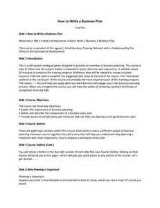 how to write a business plan transcript 0