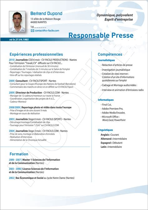 Cv In Commercial exemple cv responsable commercial