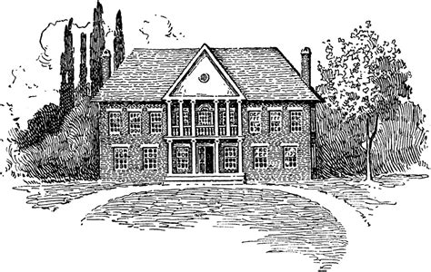 house of burgesses colonial houses clipart clipground