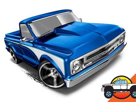 Chevy Silverado Hw Cars 67 chevy 174 c10 shop wheels cars trucks race tracks wheels