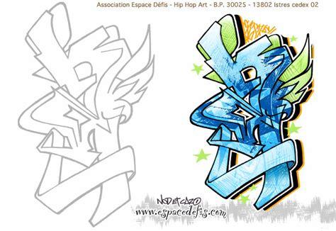 Dessin Graffiti 224 Imprimer Et 224 Colorier Espace D 233 Fis Dessin A D Calquer L