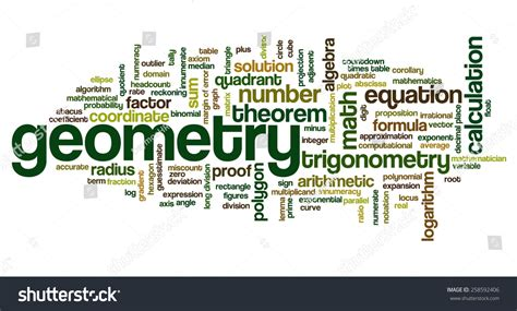 related words word cloud words related mathematics trigonometry stock vector 258592406