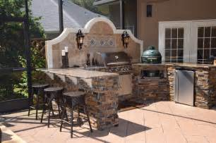 Reclaimed Wood Bathroom Vanities Outdoor Kitchen With Big Green Egg Gas Grill And Bar Seating