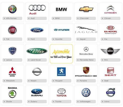Auto Marken by Bau Geb 228 Uden Automarken Liste Mit Logos