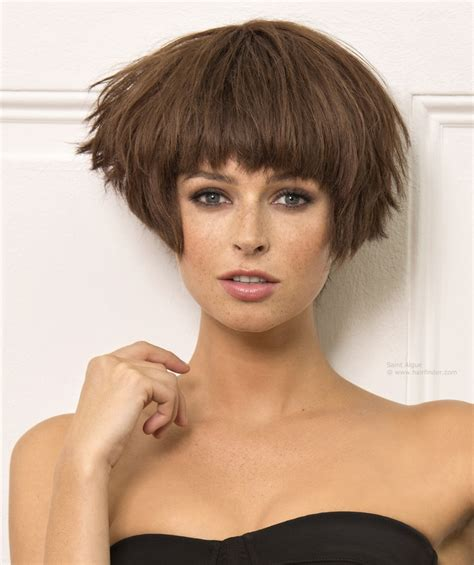 angled and feathered back hair dos short bob hairstyles back view best hair style