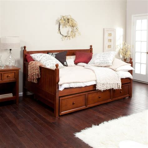 full day bed casey daybed walnut full www