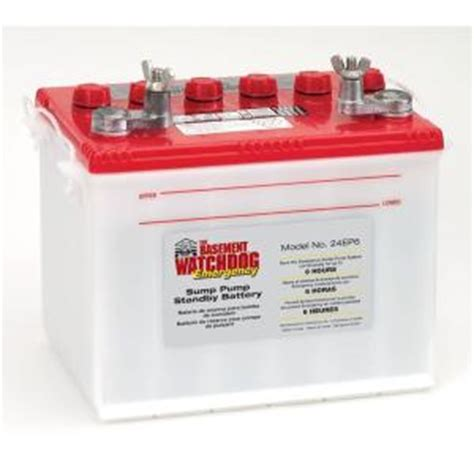 basement watchdog emergency standby battery 24ep6 the