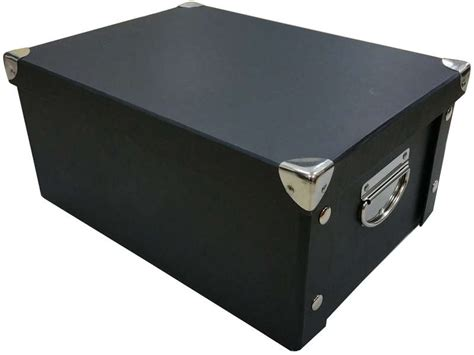 Boite 15x24x33 cm FULL 2 coloris noir   Vente de Boîte de rangement   Conforama