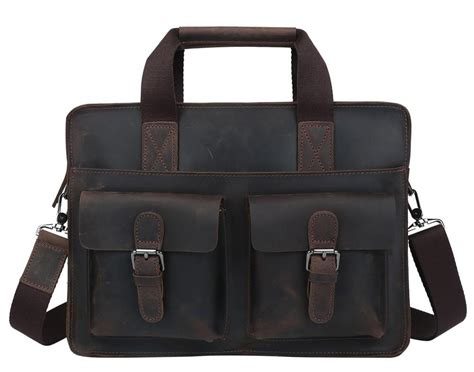 If You Fancy Winning A Vintage Laptop Bag by Vintage Style Leather Briefcase Messenger Bag S12