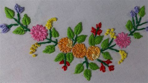 Handmade Embroidery Design - embroidery stitches tutorial tiny design for frocks