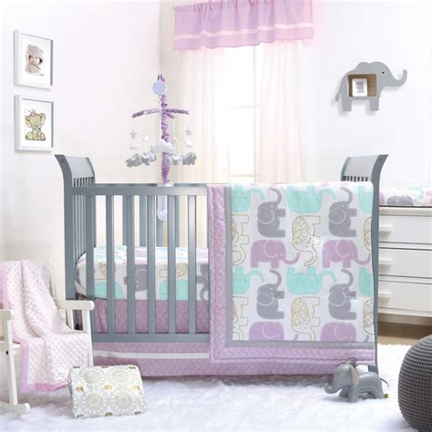 Purple And Grey Crib Bedding Sets Peanut Lilac Crib Bedding Set