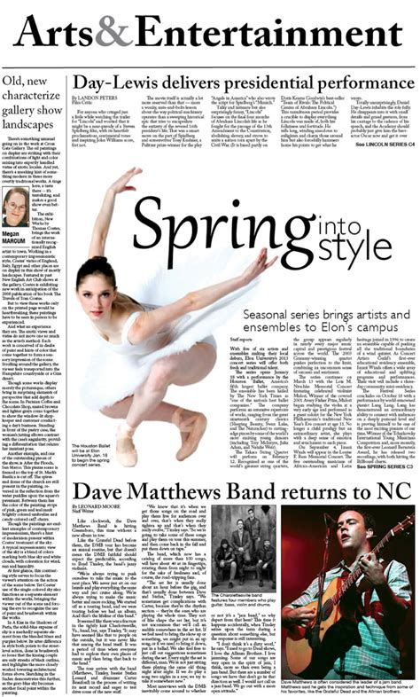 entertainment section in newspaper arts entertainment newspaper layout rebecca wickel